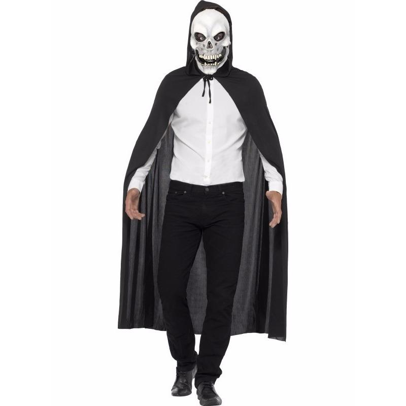 Voordelig Halloween kostuum skelet cape en masker