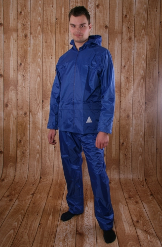 Voordelig kobalt regenpak voor volwassenen