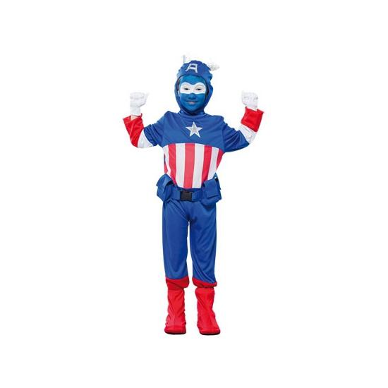 Voordelig superheld kapitein kostuum voor jongens