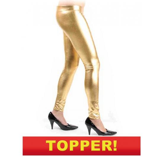 Voordelige gouden legging -