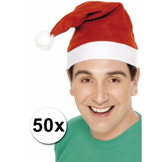Voordelige kerstmutsen 50 stuks