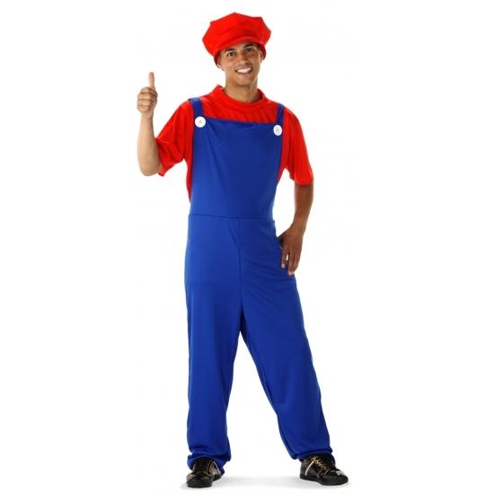 Voordelige rode loodgieter kostuum voor heren