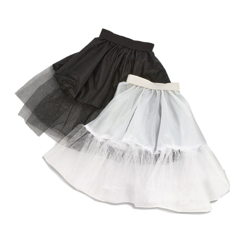 Voordelige witte kinder petticoat met tule