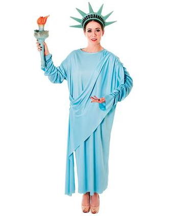 Vrijheidsbeeld kostuum met hoofdtooi
