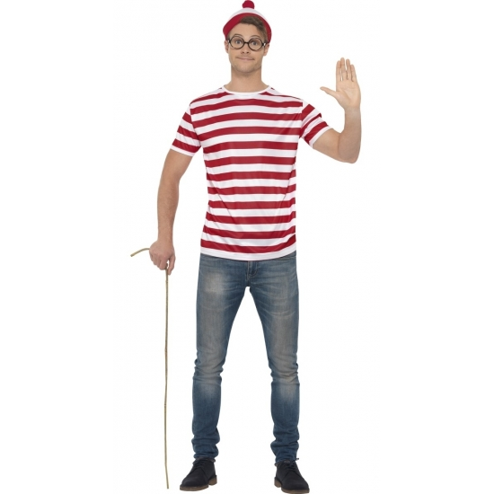 Waar is Wally verkleedset voor heren