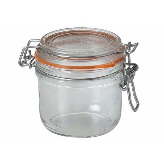 Weckpotten/inmaakpotten met klepdeksel 0.2 liter