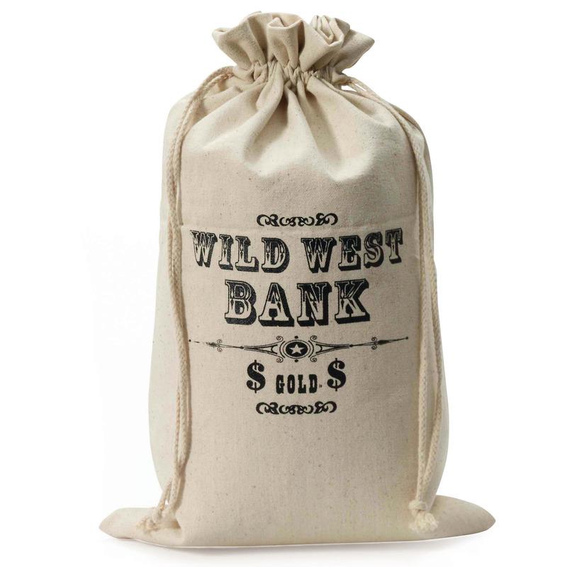 Wilde Westen geld zak 49 cm hoog