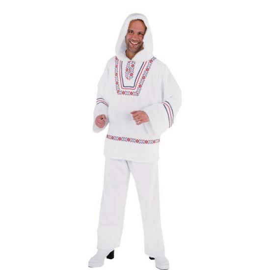 Wit eskimo kostuum voor heren