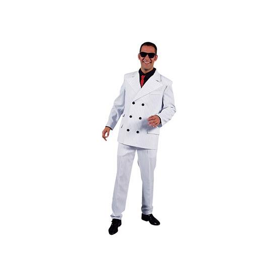 Wit heren gangster kostuum