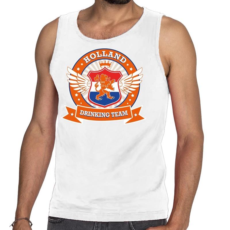 Wit Holland drinking team rwb tankop - mouwloos shirt heren