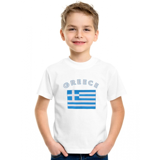 Wit kinder t-shirt Griekenland