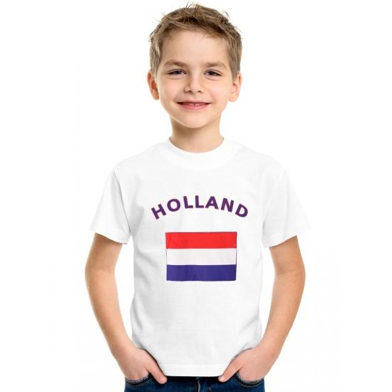 Wit kinder t-shirt Holland