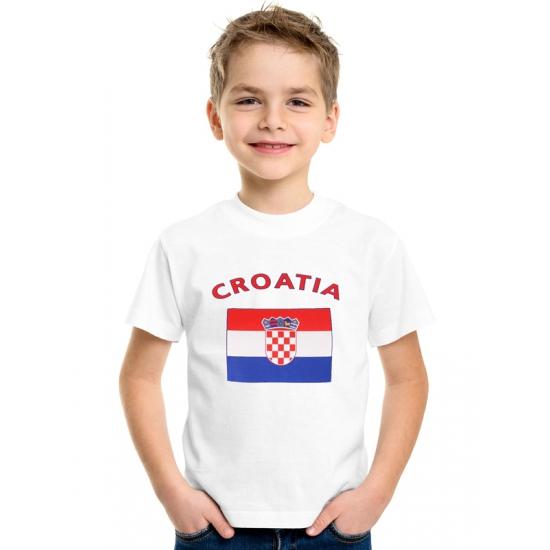 Wit kinder t-shirt Kroatie