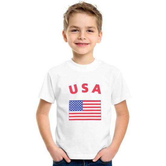 Wit kinder t-shirt USA