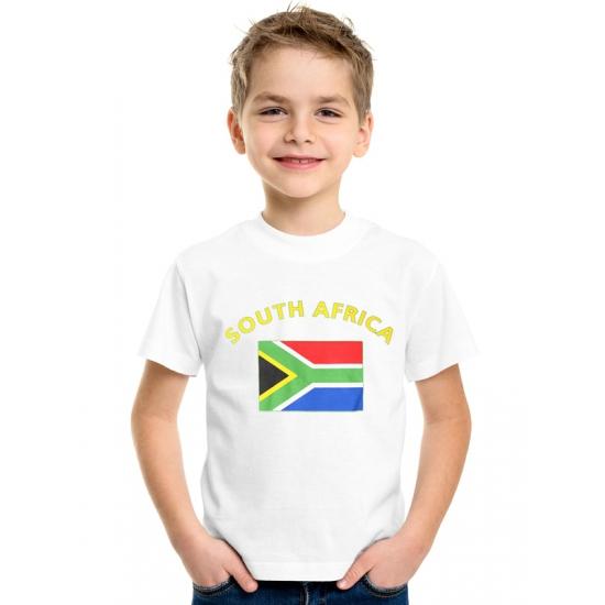 Wit kinder t-shirt Zuid Afrika
