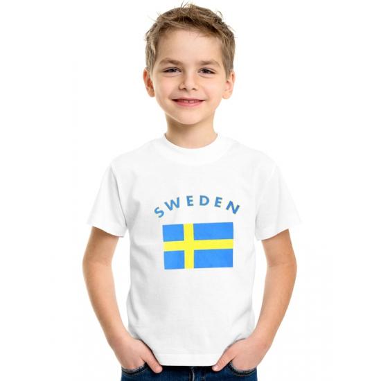 Wit kinder t-shirt Zweden