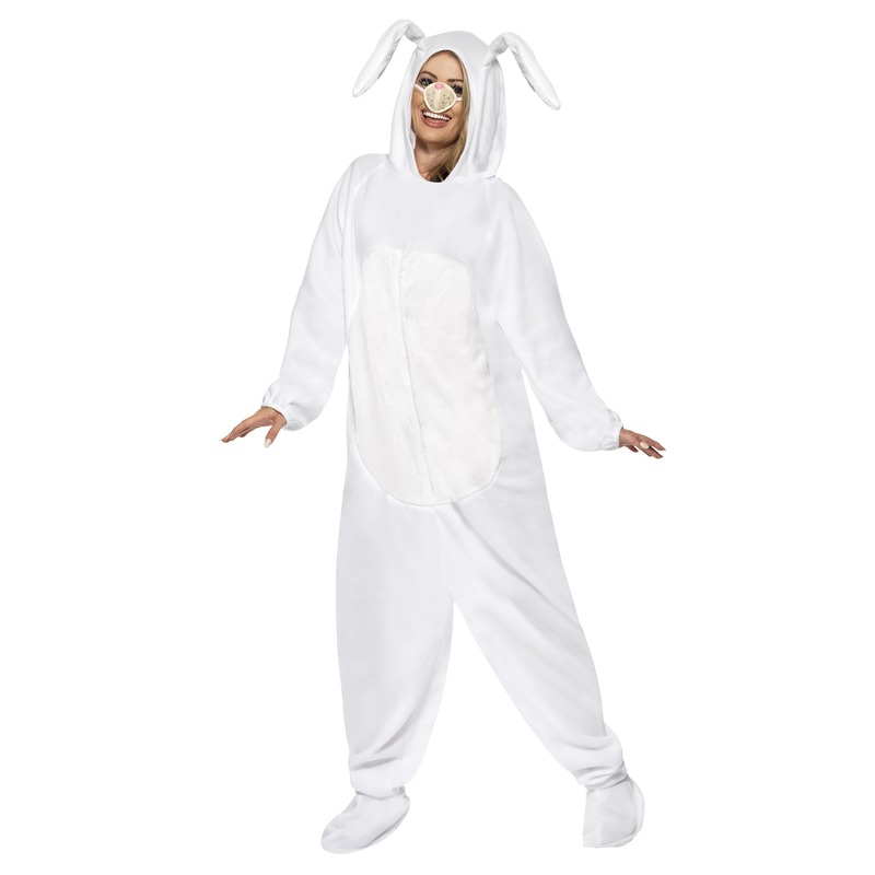 Wit konijn/haas kostuum voor volwassenen