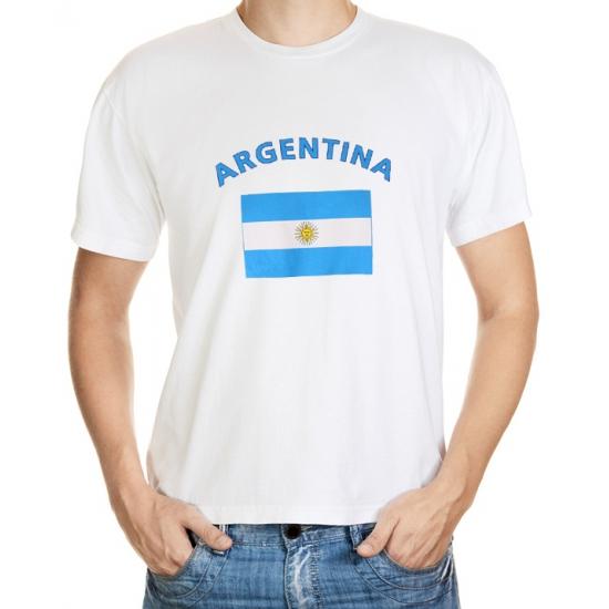 Wit t-shirt Argentinie heren
