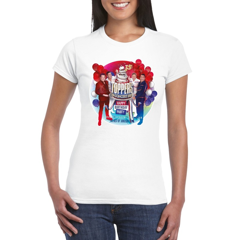 Wit Toppers in concert 2019 officieel t-shirt dames
