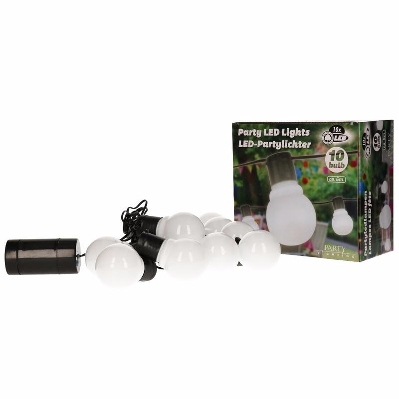 Witte feestverlichting 10 lampen