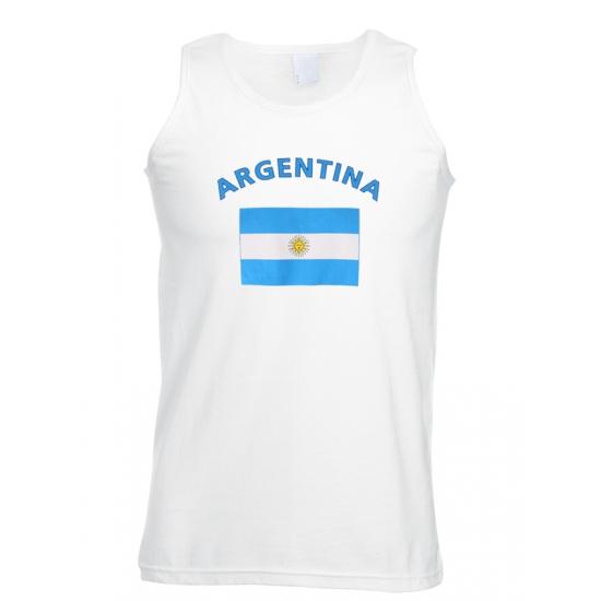 Witte heren tanktop Argentinie