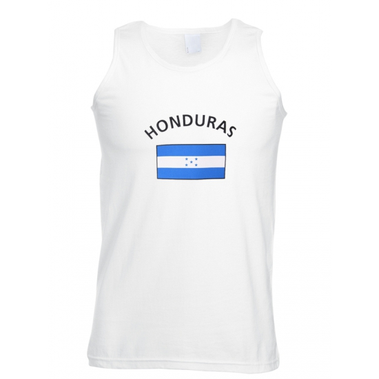 Witte heren tanktop Honduras