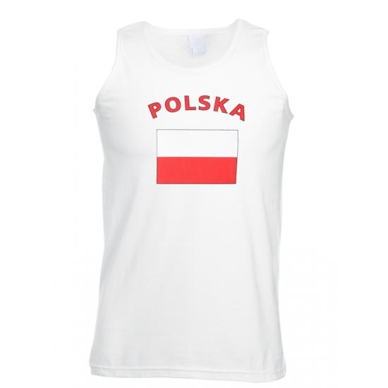 Witte heren tanktop Polen