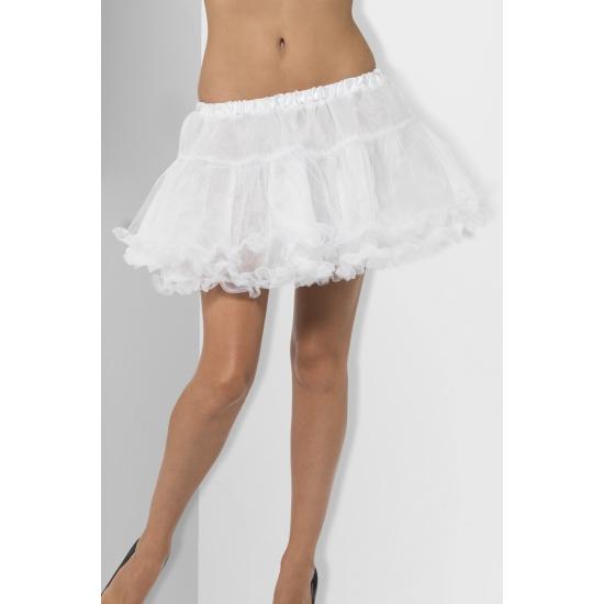 Witte petticoat/tutu met satijnen band