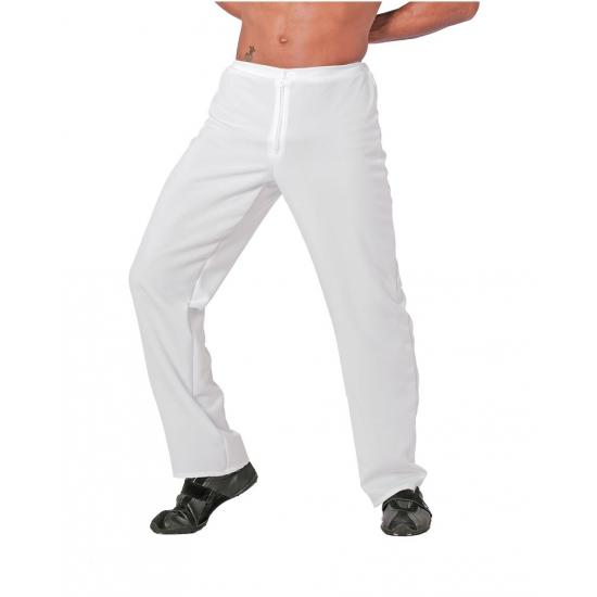 Witte verkleed feest broek voor heren