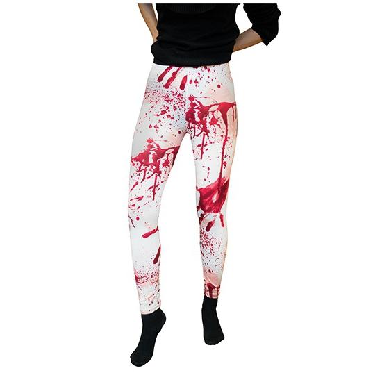 Witte verkleed legging met bloedvlekken