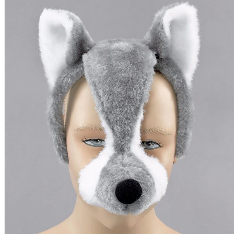 Wolven masker met geluid