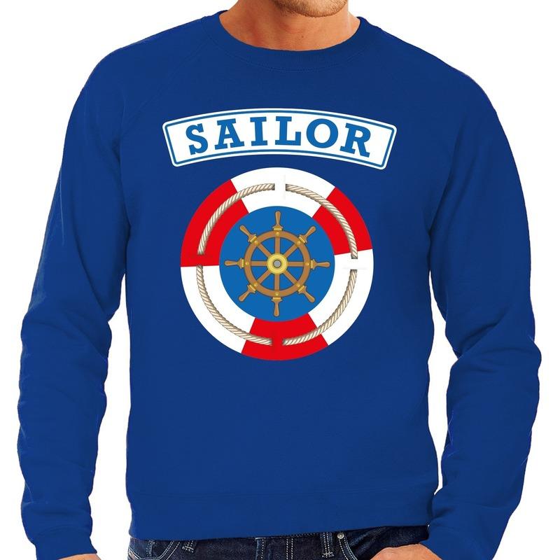 Zeeman/sailor verkleed sweater blauw voor heren