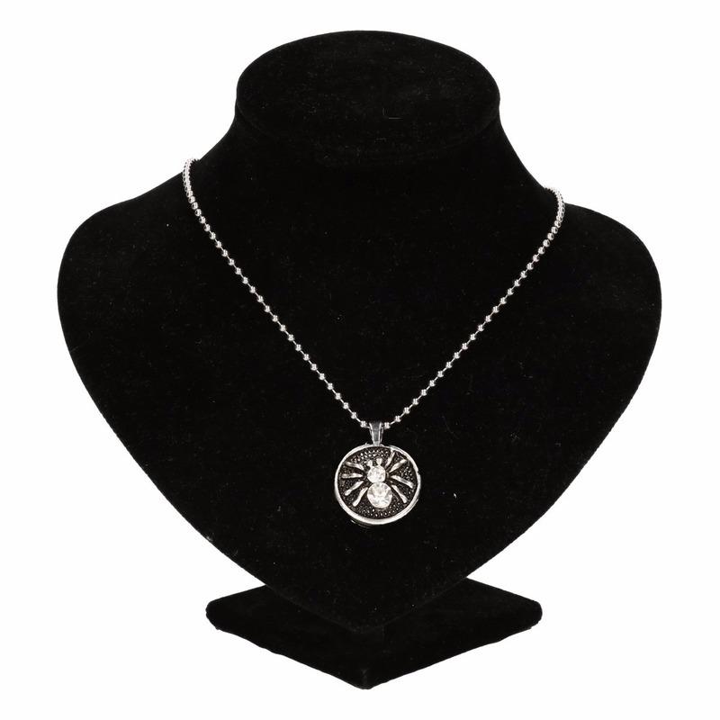 Zilveren heksen medaillon voor volwassenen