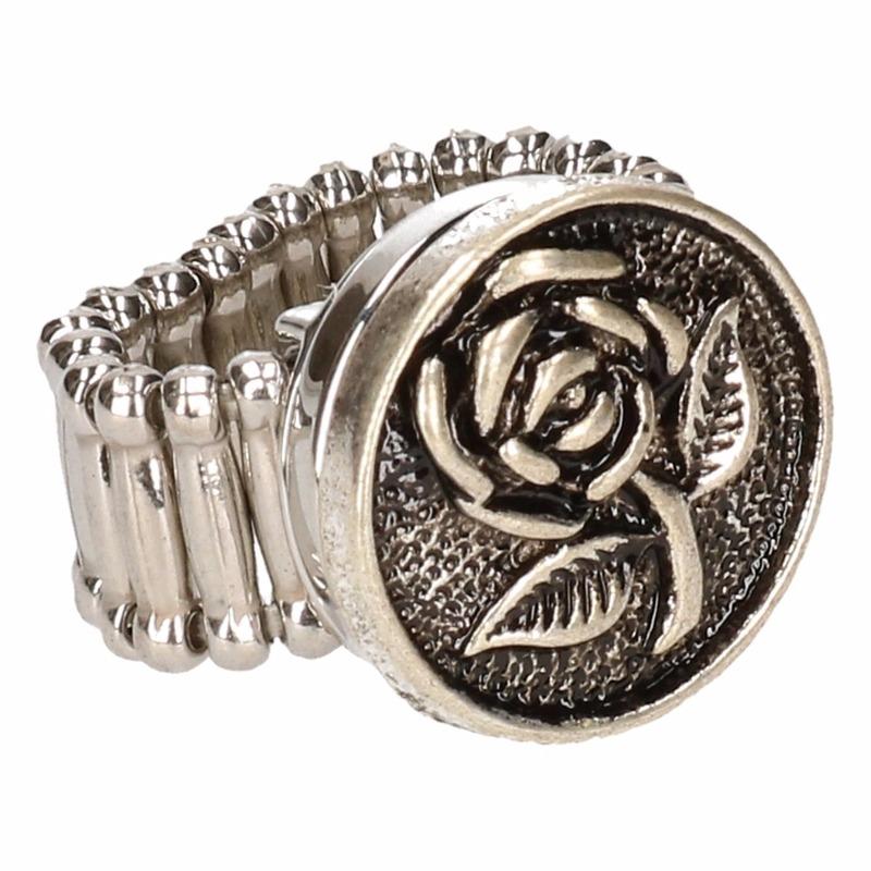 Zilveren heksen ring voor volwassenen