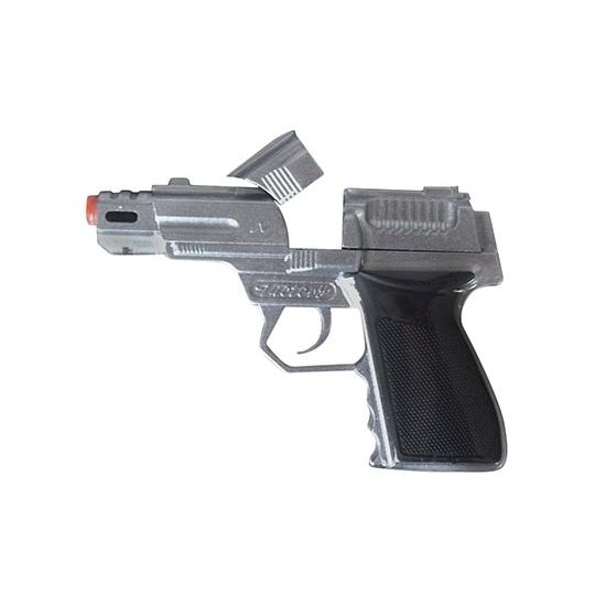 Zilveren pistool 15 cm 8 shots