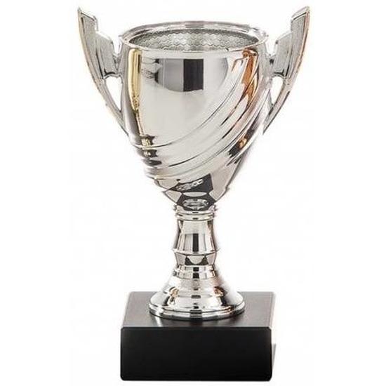 Zilveren trofee beker tweede prijs 13 cm