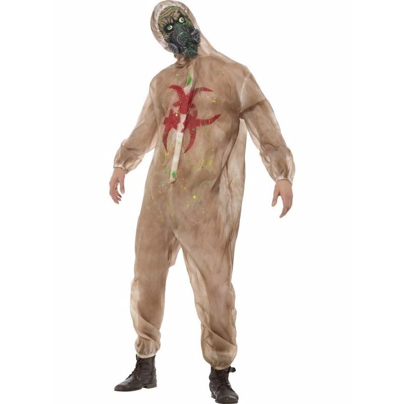 Zombie biohazard kostuum met masker