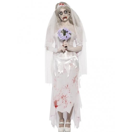 Zombie bruid horror kostuum