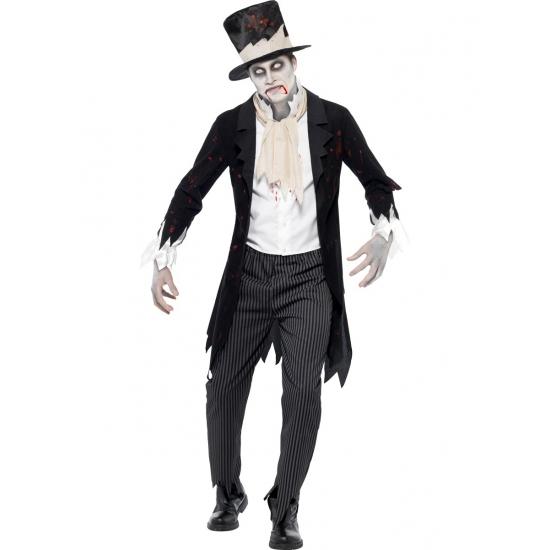Zombie bruidegom horror kostuum