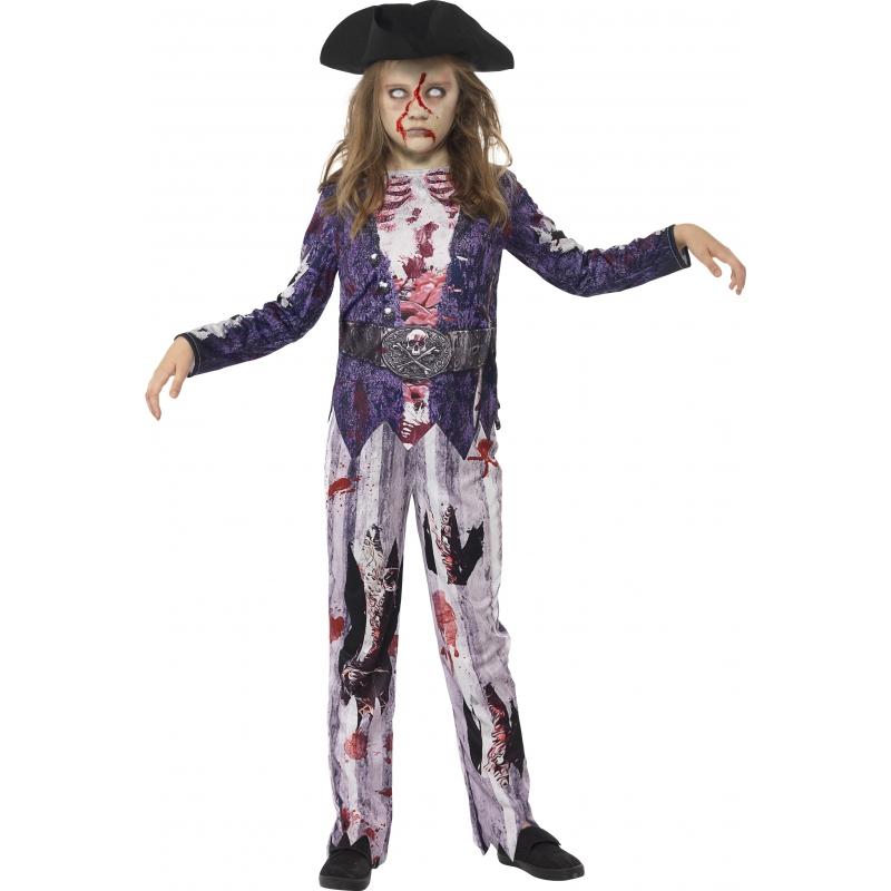 Zombie piraat kostuum voor meiden