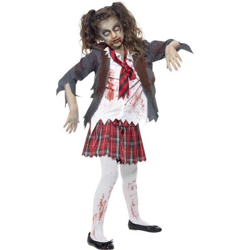 Zombie schoolmeisje kostuum voor meisjes