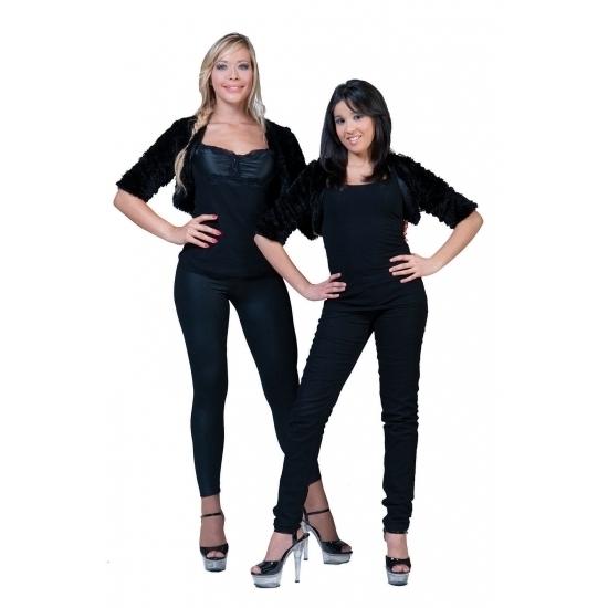 Zwart bolero bontjasje voor dames