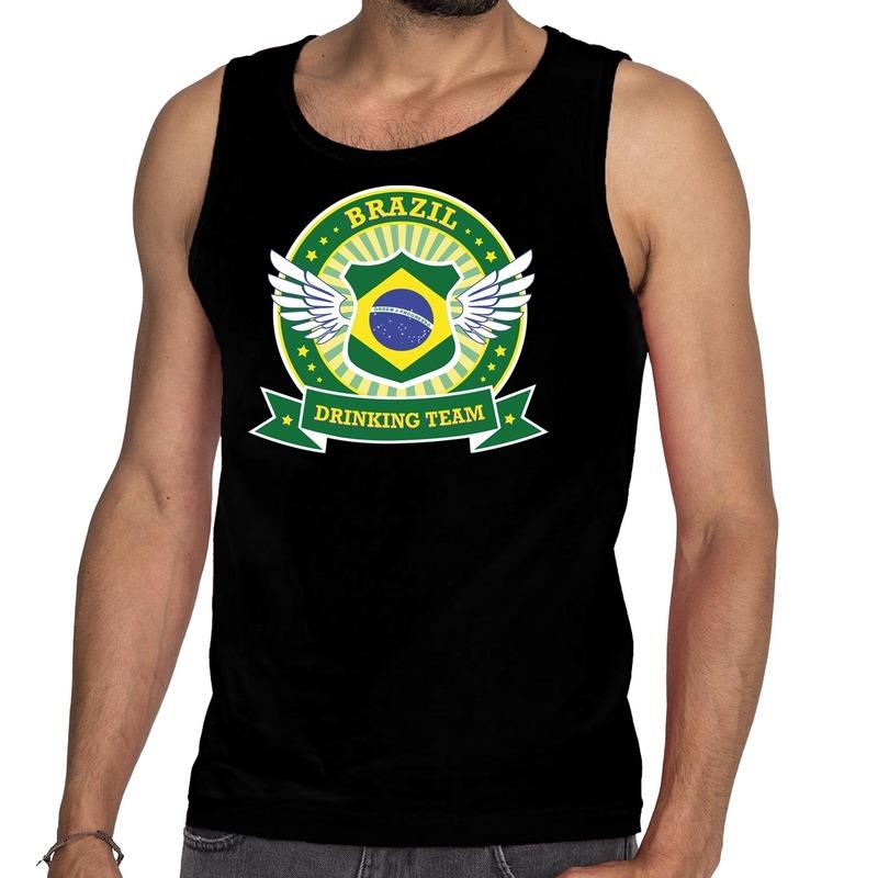 Zwart Brazil drinking team tanktop - mouwloos shirt heren