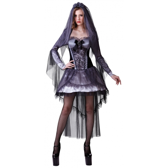 Zwart bruidsjurkje Halloween