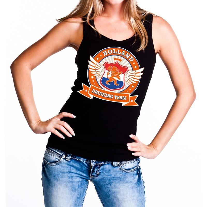 Zwart Holland drinking team tanktop - mouwloos shirt dames