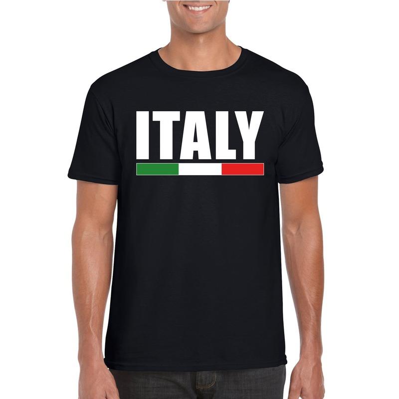 Zwart Italie supporter shirt heren