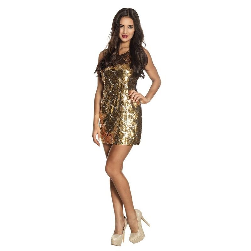 Zwart jurkje met gouden pailletten
