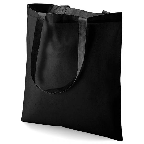 a0b3701442b Zwart katoenen tasje - Boodschappentas - Bellatio warenhuis