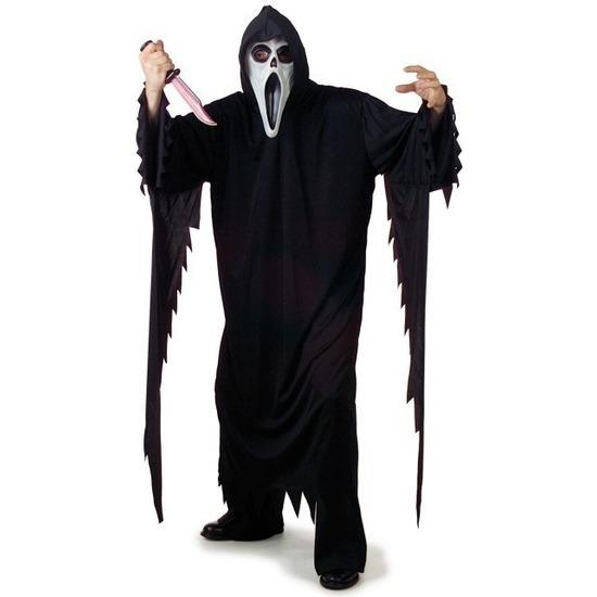 Zwart Scream verkleed kostuum/gewaad voor volwassenen