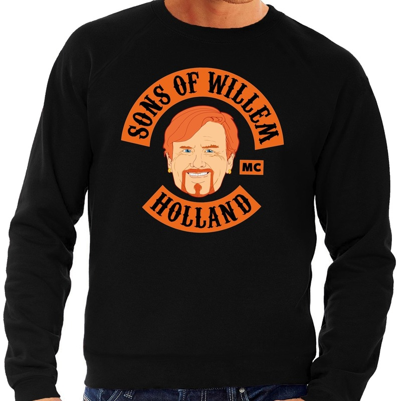 Zwart Sons of Willem sweater heren